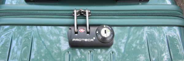 カギ差し込みタイプのスーツケース