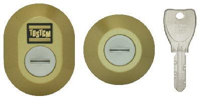 楕円形と円形シリンダー(DNキー)