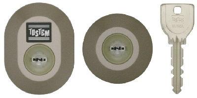 楕円形と円形シリンダー(URキー)